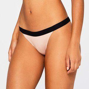 Women's Cotton Rib Low Rise Thong Panty, 3-Pack